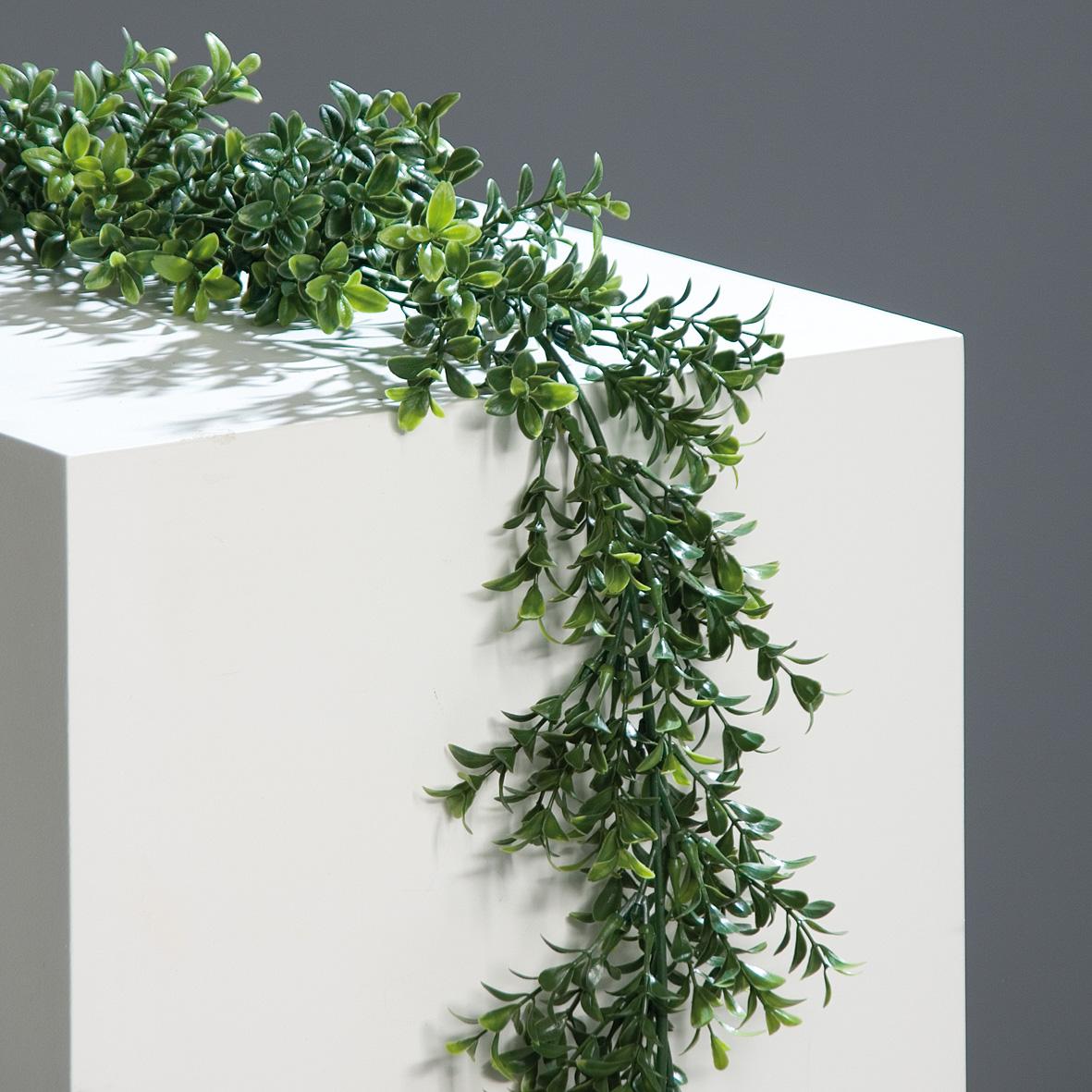Buchsgirlande grün 180cm lang Kunstpflanze Heimdeko