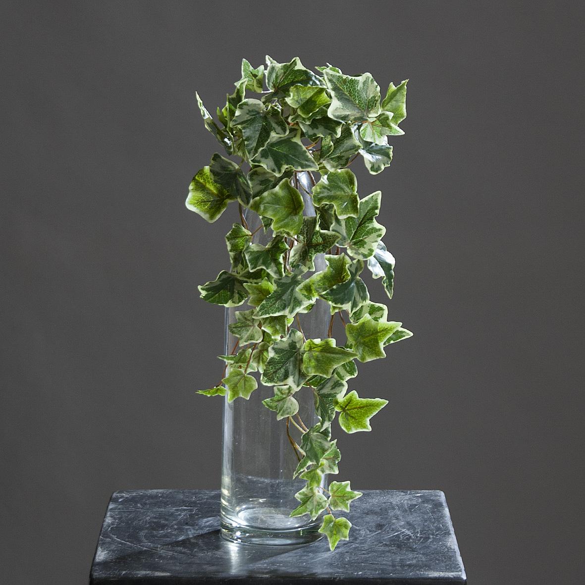 Efeu-Hänger Kunstpflanze Deko grün-weiß 50cm
